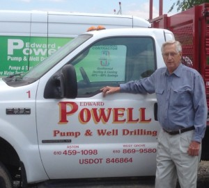 Edward Powell with Truck